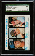 Baseball Cards:Singles (1970-Now), 1973 Topps Mike Schmidt/Cey Rookie #615 SGC 84 NM 7....