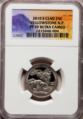 Proof National Parks Quarters, 2010-S 25C Yellowstone National Park Clad PR70 Ultra Cameo NGC. NGCCensus: (0). PCGS Population (335). (#418831)...