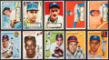 Baseball Cards:Lots, 1952 and 1954 Topps Baseball Collection (50) From the OriginalCollector!...