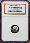 Proof Roosevelt Dimes, 2007-S 10C Silver PR70 Ultra Cameo NGC. NGC Census: (0). PCGSPopulation (447). Numismedia Wsl. Price for problem free NGC...