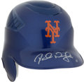 Baseball Collectibles:Hats, David Wright Signed New York Mets Batting Helmet....