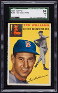 Baseball Cards:Singles (1950-1959), 1954 Topps Ted Williams #250 SGC 84 NM 7....