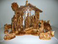 Movie/TV Memorabilia:Memorabilia, Olive Wood Carving of Nativity Scene from Jimmy's Bazaar...