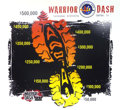 Movie/TV Memorabilia:Memorabilia, Signed Warrior Dash Foam Core Poster from GBTV Set. BenefittingMercury One . ...