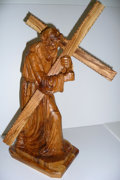 Movie/TV Memorabilia:Memorabilia, Olive Wood Carving of Jesus Carrying the Cross from Jimmy's Bazaar. Benefitting Mercury One . ...
