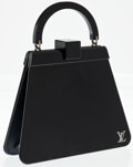 Luxury Accessories:Accessories, Heritage Vintage: Louis Vuitton Special Edition Navy BlueLucite and Leather Runway Bag. ...