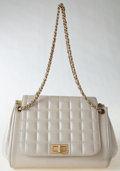 Luxury Accessories:Bags, Heritage Vintage: Chanel Beige Lambskin Leather Flap Bagwith Gold Hardware. ...