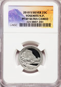 2010-S 25C Yosemite National Park Silver PR69 Ultra Cameo NGC. NGC Census: (0/0). PCGS Population (1520/365). (#418840)...