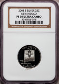 Proof Statehood Quarters, 2008-S 25C New Mexico Silver PR70 Ultra Cameo NGC. NGC Census: (0).PCGS Population (350). Numismedia Wsl. Price for probl...