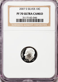 2007-S 10C Silver PR70 Ultra Cameo NGC. NGC Census: (0). PCGS Population (447). Numismedia Wsl. Price for problem free N...
