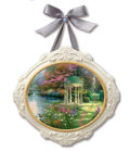"Movie/TV Memorabilia:Memorabilia, Thomas Kinkade ""Garden of Prayer"" Ceramic Plaque. BenefittingMercury One . ..."