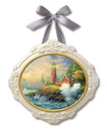 "Movie/TV Memorabilia:Memorabilia, Thomas Kinkade ""Courage"" Ceramic Plaque. Benefitting Mercury One ...."