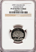 Proof Statehood Quarters: , 1999-S 25C Connecticut Silver PR69 Ultra Cameo NGC. NGC Census: (8148/1347). PCGS Population (5671/169). Numismedia Wsl. P...