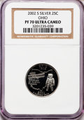 Proof Statehood Quarters, 2002-S 25C Ohio Silver PR70 Ultra Cameo NGC. NGC Census: (0). PCGS Population (248). Numismedia Wsl. Price for problem fre...