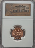 Lincoln Cents, 2009 1C Professional Life, First Day of Issue MS66 Red NGC. PCGS Population (730/4). Numismedia Wsl. Pr...