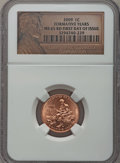 Lincoln Cents, 2009 1C Formative Years, First Day of Issue MS65 Red NGC. PCGS Population (586/632). Numismedia Wsl. Pr...