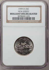 1999-D 25C New Jersey Brilliant Uncirculated NGC. NGC Census: (0/1051). PCGS Population (0/1979). Numismedia Wsl. Price...