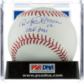 "Autographs:Bats, Roberto Alomar ""HOF 2011"" Single Signed Baseball, PSA Mint 9. ..."
