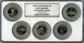 Proof Statehood Quarters, 2007-S 25C Set of Five Statehood Quarters Clad PR70 Ultra CameoNGC. This set includes: Montana, Washington, Idaho, Wyoming...(Total: 5 coins)