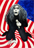 Music Memorabilia:Original Art, Grace Slick 9-11 Painting (c. 2001)....