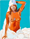 Music Memorabilia:Original Art, Stanley Mouse Nude in White Painting (1994)....