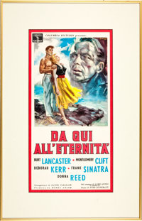 From Here to Eternity (Columbia, 1953) Framed Italian Movie Poster (Locandino)