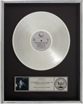 Music Memorabilia:Awards, Beatles Related: John Lennon and Yoko Ono Double FantasyRIAA Platinum Album Award....