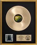 Music Memorabilia:Awards, Beatles Hey Jude RIAA Gold Record Album Award....
