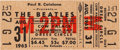 Music Memorabilia:Tickets, Beatles Unused San Francisco Concert Ticket (1965)....