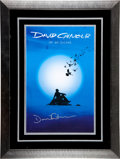 Music Memorabilia:Autographs and Signed Items, David Gilmour Signed and Framed Poster for On An Island (EMI/ Columbia, 2006)....