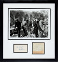 Music Memorabilia:Autographs and Signed Items, Beatles and Ed Sullivan Autographs Framed....