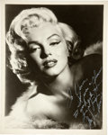Movie/TV Memorabilia:Autographs and Signed Items, A Marilyn Monroe Signed Black and White Photograph, Circa 1955....