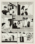 "Original Comic Art:Panel Pages, Jaime Hernandez Love and Rockets #17 ""Locas vs Locos"" Page 8Original Art (Fantagraphics, 1986)...."
