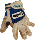 Baseball Collectibles:Others, Gary Carter Game-Worn, Signed Glove....