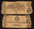 Confederate Notes:1863 Issues, T61 $2 1863;. T69 $5 1864.. ... (Total: 2 notes)