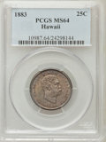 Coins of Hawaii: , 1883 25C Hawaii Quarter MS64 PCGS. PCGS Population (318/261). NGCCensus: (206/275). Mintage: 500,000. (#10987)...