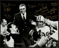 Football Collectibles:Photos, Green Bay Packers Legends Multi Signed Oversized Photograph. ...