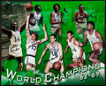 Basketball Collectibles:Photos, 1968 Boston Celtics Team Signed Oversized Photograph....