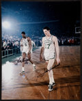Basketball Collectibles:Photos, Bill Russell and John Havlicek Multi Signed Oversized Photograph....