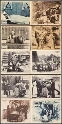 "The Diamond from the Sky (Mutual, 1915). Lobby Cards (8"" X 10"") and Promo Photo Post Card (3.5"" X 5.5&quo..."