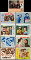 """Movie Posters:Western, Cheyenne and Others Lot (Warner Brothers, 1947). Title Lobby Card and Lobby Cards (8) (11"""" X 14""""). Western.. ... (Total: 9 Items)"""