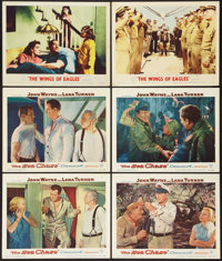 """The Sea Chase and Other Lot (Warner Brothers, 1955). Lobby Cards (6) (11"""" X 14""""). War. ... (Total: 6 Items)"""