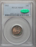 Seated Dimes: , 1883 10C MS65 PCGS. CAC. PCGS Population (73/63). NGC Census:(77/59). Mintage: 7,674,673. Numismedia Wsl. Price for proble...