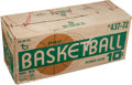 Basketball Cards:Sets, 1972 Topps Basketball Unopened Case With Twenty-Four Untouched WaxBoxes!...
