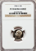 Proof Roosevelt Dimes: , 1983-S 10C PR70 Ultra Cameo NGC. NGC Census: (162). PCGS Population(149). Numismedia Wsl. Price for problem free NGC/PCGS...