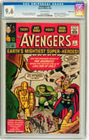 Featured item image of The Avengers #1 Pacific Coast pedigree (Marvel, 1963) CGC NM+ 9.6 Off-white pages....