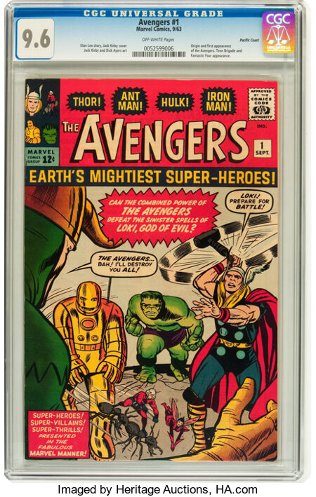 The Avengers #1 Pacific Coast pedigree (Marvel, 1963) CGC NM+ 9.6 Off-white pages....