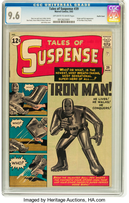Tales of Suspense #39 Pacific Coast pedigree (Marvel, 1963) CGC NM+ 9.6 Off-white to white pages....