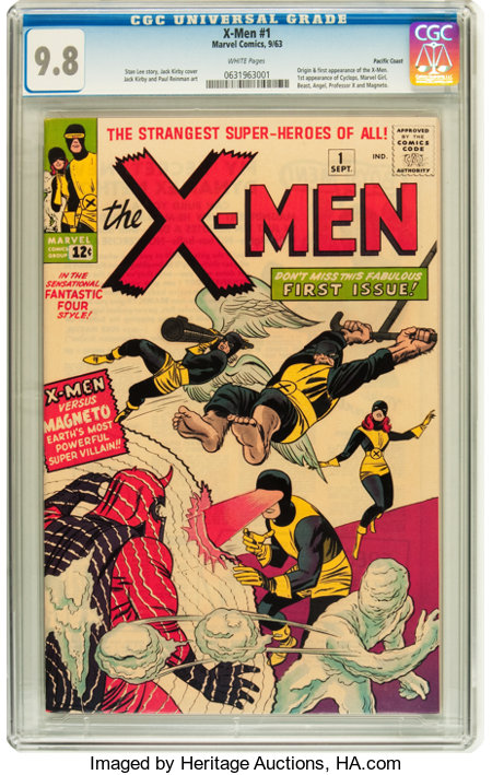 X-Men #1 Pacific Coast pedigree (Marvel, 1963) CGC NM/MT 9.8 White pages....