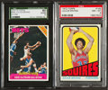 Basketball Cards:Lots, 1970's Topps Julius Erving Graded Pair (2) With Rookie. ...
